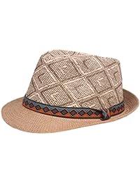 Sombrero De Paja De Verano para Hombre Sombrero De Panamá Retro Sombrero  Especial Estilo Moda Hombres 5f922bea97c