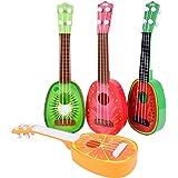 Tongshi Los niños aprenden Guitarra Ukulele Mini fruta puede tocar instrumentos musicales Juguetes