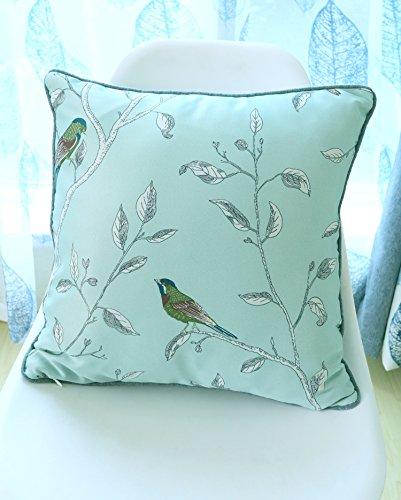 One Single Oriental Bird/Shabby Chic Vintage Floral Paspel Kissenbezug Duckegg–45,7x 45,7cm Vorhänge zu Hause (Kissenbezug Shabby Chic Shabby)