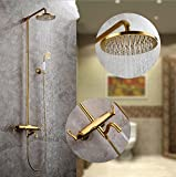 Yn Dusche Set Handbrause europäischen Stil Duschkopf Dusche Gold Antik Lift Bad Kupfer Badezimmer Duschkopf