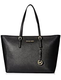 Michael Kors Women's Jet Set Travel Top-Zip Tote Handbag
