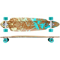 Revon™ Canadian Maple Pintail Drop Through Longboard mit ABEC 9, Komplettboard aus hochwertigen Bamboo Hoch-Präzision ABEC9 Kugellager
