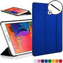 Forefront Cases® Samsung Galaxy Tab PRO 8.4 SM-T320 Funda Carcasa Stand Smart Case Cover Protectora Plegable de Cuero – Función automática inteligente de Suspensión/Encendido + Lápiz óptico