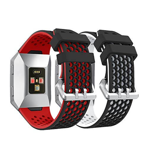 YaYuu Fitbit Ionic Watchband, Soft Silicone Replacement Band Sports Bracelet for Fitbit Ionic Smart Watch (B, 2 Package)