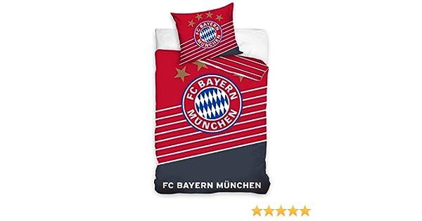 Fc Bayern München Fußball Bettwäsche Football Baumwolle 140x200