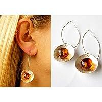 Wunderschöne Ohrringe, Hängeohrringe, amber earrings, Silber 925, NEU - UNIKAT -