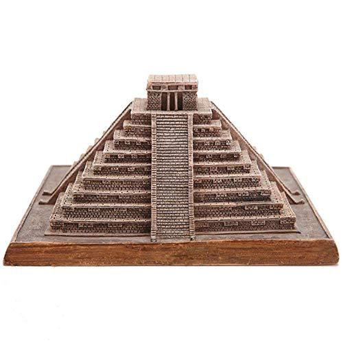 LUCKY-SCUL Wohnkultur, Architekturmodell Wahrzeichen, Skulptur/Statue, mexikanische Mayapyramide, weltberühmte Architektur, kleine Skulptur, touristisches Souvenir
