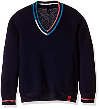 United Colors of Benetton Boys' Sweater (16A1TRIC0013IK252Y_Royal Blue_2Y)