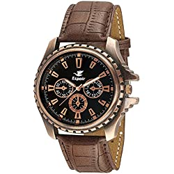Espoir Analogue Black Dial Men's Watch -DZ-GR0401-BLK-BRW