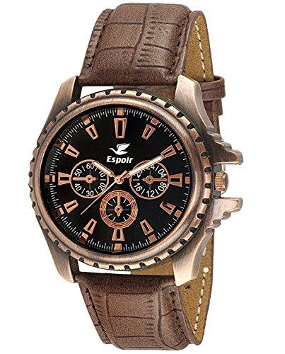 Espoir Analog Men's Watch - DZ-GR0401-BLK-BRW