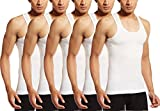 VIP Supreme Men's Cotton Sleeveless Vest White_85 - Pack of 5