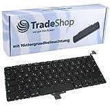 """Trade-Shop Premium Laptop-Tastatur / Notebook Keyboard Ersatz Austausch Deutsch QWERTZ für Apple Macbook Pro Unibody 33,8cm 13,3"""" A1278 A1279 A1280 2008 2009 2010 2011 2012 (Deutsches Tastaturlayout, mit Hintergrundbeleuchtung)"""