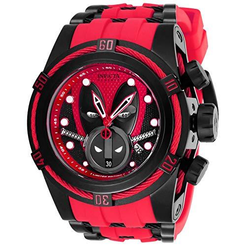 Invicta Marvel Herren-Armbanduhr Armband Kunststoff Lila Schweizer Quarz 27152