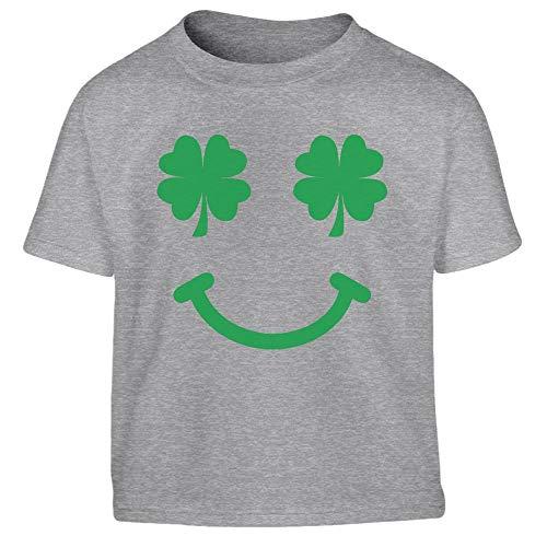 St.Patrick`s Day Kleeblatt Smiley für Kinder Kleinkind Kinder T-Shirt - Gr. 86-116 96/104 (3-4J) ()