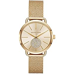Michael Kors Reloj Analogico para Mujer de Cuarzo con Correa en Acero Inoxidable MK3844