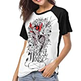 Photo de HSJCBHLS T-Shirts Femme Manches Courtes Modest Mouse Women Baseball T Shirt Round Neck Tops Casual Shirt par HSJCBHLS