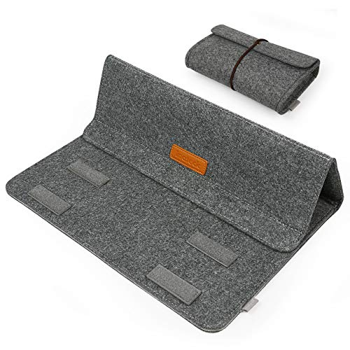 Inateck 13,3 Zoll Sleeve mit Stand-Funktion für MacBook Air/Pro Retina/12,9 Zoll iPad Pro Case Gehäuse Hülle Ultrabook Netbook Laptop Tablet PC-Dunkelgrau