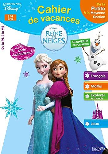 Cahier de vacances la Reine des Neiges - de la PS à la MS - Cahier de vacances