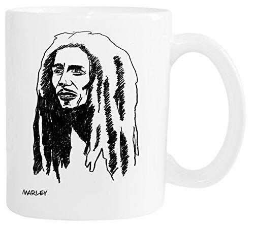 Mister Merchandise Kaffeetasse Bob Marley Teetasse Becher, Farbe: Weiß