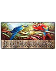 Xpression Décor Key Holder Rack with Photo of Parrot 9393