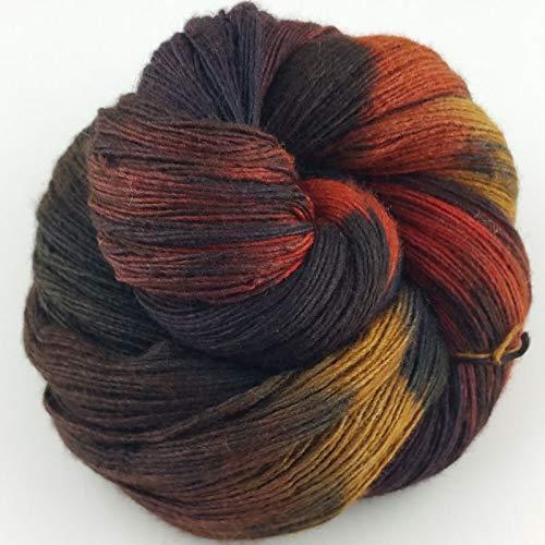 Manos Del Uruguay Silk Blend Fino 6921 Lava, 100g, Wolle mit Seide zum Stricken und Häkeln, Merino Seide Mischung handgefärbt mit Farbverlauf -