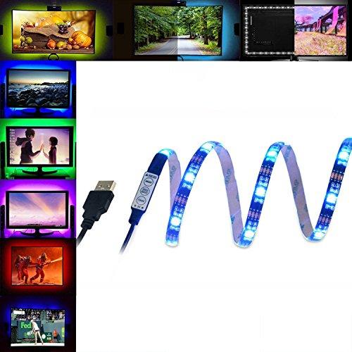 LED TV Hintergrundbeleuchtung Bias Beleuchtung Kit, YOCILO 39Inch 5V USB Powered Multi Farbe Wasserdichte Bias Beleuchtung für HDTV, Flachbildschirm LCD, Desktop PC Monitor (Machen Sie Ihre Eigenen Kostüm Kit)