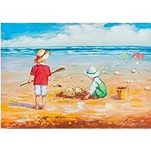 Quadro olio su tela dipinto a mano 70x3x50 (Mare Su Tela)