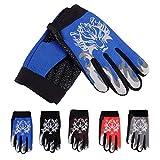 Là Vestmon Handschuhe, warme All-Finger-Samt-Sporthandschuhe für Kinder, Nylon, Rutschfeste, Winddichte, fleecegefütterte Baumwollhandschuhe, Mehrfarbig