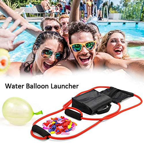 Cherishly Wasserballonwerfer mit 111 Luftballons, 3-Mann-Schleuder-Wasserbombe, Katapult-Schleuder, Wasserwerfer, Jungen-Wasserspielzeug, Hofspielzeug, Spielzeug für Mädchen und Kinder Biological