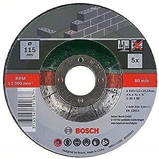 Bosch 2 609 256 334 - Juego de 5 discos de tronzar, acodado para piedra (B009RQ3CG2)   Amazon price tracker / tracking, Amazon price history charts, Amazon price watches, Amazon price drop alerts