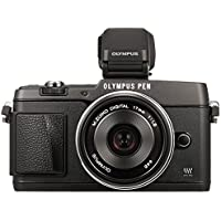 Olympus PEN E-P5 Micro Four Thirds Interchangeable Lens Camera - Black (16.1MP, Live MOS, M.Zuiko 17mm 1:1.8mm Lens, VF-4 Elelctronic Viewfinder) 3.0 inch Tiltable Touchscreen LCD