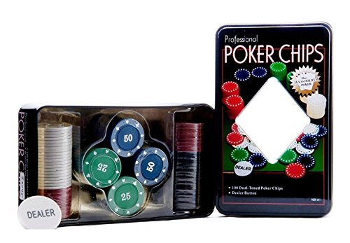 Toygully Professional 100 Chips Poker Set card casino game style  available at amazon for Rs.499