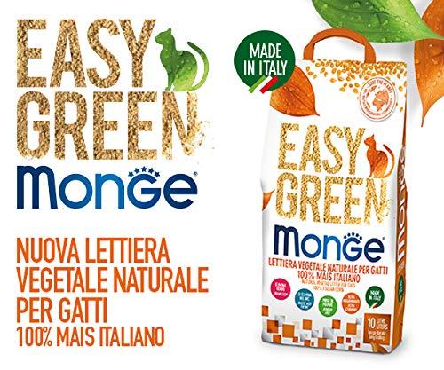 Monge Easy Green Lettiera Vegetale per Gatti 100{c605158c09ce83cea1ccd4a5b1aec5c2df20843148fb10a3a565c4a5a3487d00} Mais Italiano New