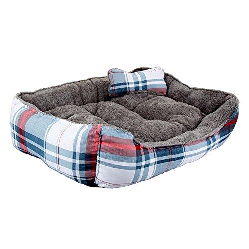 Cama para mascotas de lujo para gatos y pequeño perro mediano Cuddler...