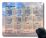 Calendrier 2019 avec Blocs de Vacances Importants, Tapis de Souris, Ciel étoilé Tapis de Souris Gaming