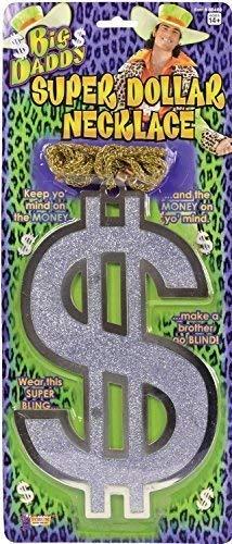 Dollarzeichen Halskette Big Daddy Gangster 1960s Jahre 60s Jahre 1970s 70s Jahre Karneval Junggesellenabschied Nacht Kostüm Kleid Outfit Zubehör ()