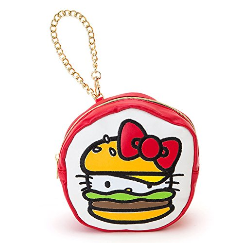 Hello Kitty motif shaped pouch (ribbon design) hamburger (Hamburger Hello Kitty)