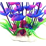 Dreammy Artificial Green Plant Aquarium Fish Tank Plastic Plants Decoration Ornament Tall Plant … 14