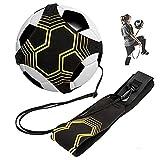 BJ-SHOP Kit per l'Allenamentov,Pallone Calcio Soccer Solo Skill Practice Universal Fits # 3# 4# 5 Palloni per bambini Adulti