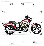 3dRose Orologio da Parete Picturing Harley-Davidson  Moto (DPP 4490_ 3)