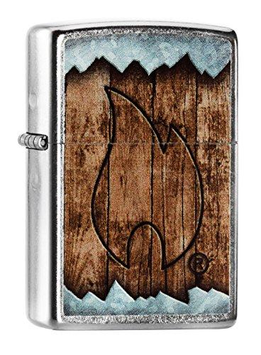 Zippo 60.000.557 Feuerzeug Holz gebrannt Flamme, Spring 2015, Street chrome (Zippo-feuerzeug Flamme)