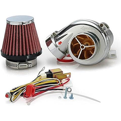 Kit Mini elettrico turbo Supercharger Kit filtro aria di aspirazione per tutte le auto e moto