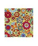 doodle-carpet Kuschelig weicher Flowerpower Teppich mit Blumen Muster, handgefertigt, quadratisch (150 x 150 cm)