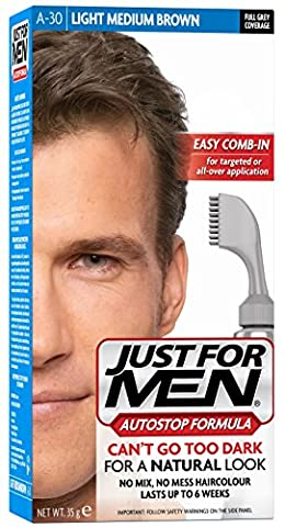 Just For Men Autostop Hair Color Light-Medium Brown