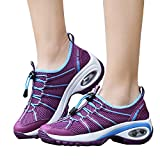 TianWlio Sneaker Damen Freizeit Mesh Wear Resistant Schnüren Rutschfeste Sportschuhe Flache Turnschuhe Purple 37