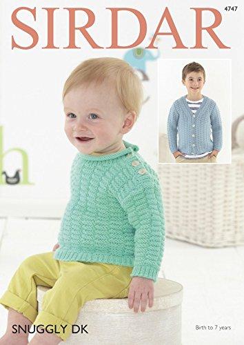Sirdar Baby & Jungen Cardigan & Pullover Strickmuster 4747DK -