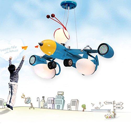 Guo Kinderzimmer Schlafzimmer Lichter Kämpfer Kreative Kronleuchter Junge Aircraft Lichter Hardware-Technologie E14 Lampe Port