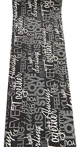 Tappeto cucina grigio nero scritte love antiscivolo life design living (cm 50 x 180)
