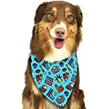 Hipiyoled Pet Bandanas Cartoon USA Pattern Adjustbable Collars Pet Bandana Bibs for Puppy Cats