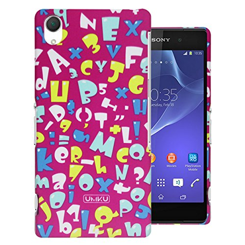 Heartly A to Z & Number Series Printed Design High Quality Hard Bumper Back Case Cover For Sony Xperia Z2 - Cute Pink  available at amazon for Rs.249